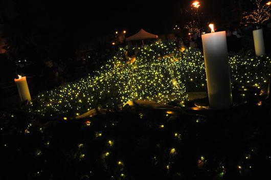 A 2013-as koszorú lila-arany színű volt. Idén milyet szavaztok meg? (Fotó: Rajki Judit - OrosCafe.hu)